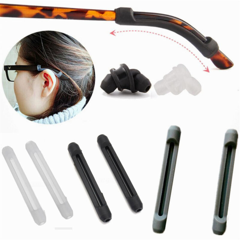c102c4f12f21 Details about 10 Pairs Temple Hook Tip Eyeglass   Glasses   Spectacles Ear  Grip Anti Slip