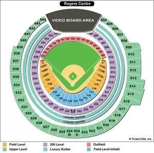 Season Tickets Toronto Blue Jays 100Level Outfield and 500Levels