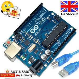UNO R3 Arduino Rev3 328 ATMEGA328P Compatible Board FREE USB UK