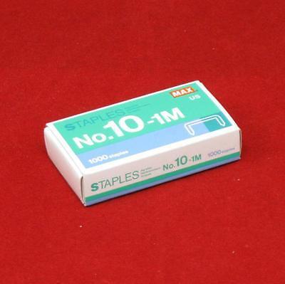 1 - 1000 Count Box Of Max No 10-1m Staples For Hd-10fl Mini Stapler