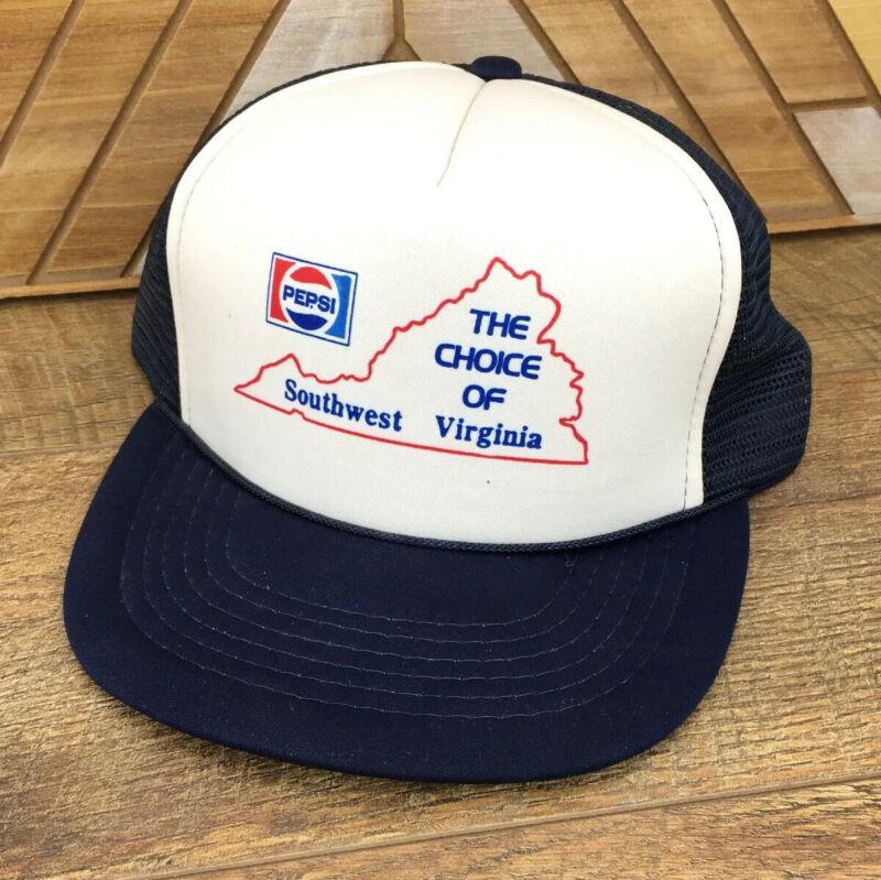 VTG PEPSI Choice Of Southwest Virginia VIRGINIA Snapback Trucker Hat Cap Mesh W