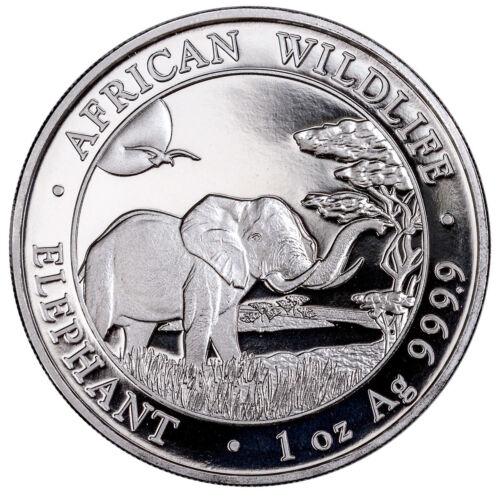 2019 Somalia 1 oz. Silver African Wildlife Elephant Sh100 Coin GEM BU SKU55249