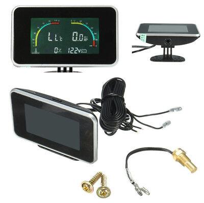 4 In 1 Digital Display Voltmeter Water Temp Oil Pressure Fuel Gauge With Sensor