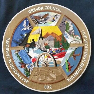 Ore-Ida Council  2017 National Jamboree Silver Collectors Patch No. 2 of 50