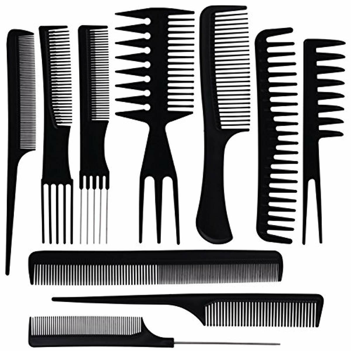 Oneleaf 10PCS Hair Stylists Professional Styling Comb Set Va