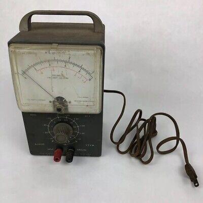 Heathkit Precision AV-3 Audio VTVM test Meter - Vintage - Working Condition