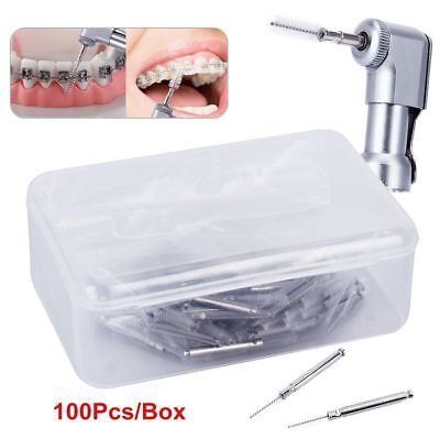 Dental Clean Prophy Hygiene Interdental Brush 100 Pcs For Contra Angle Handpiece