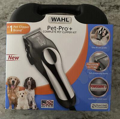 新しいWAHLペットプロプラスコンプリート12 Pcペットクリッパーキットグルーミングヘアドッグトリマー