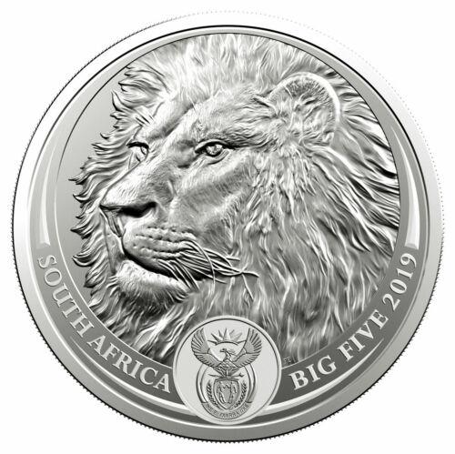 2019 South Africa 1 oz Silver R5 Big 5 Lion GEM BU In Blister Pack SKU59352