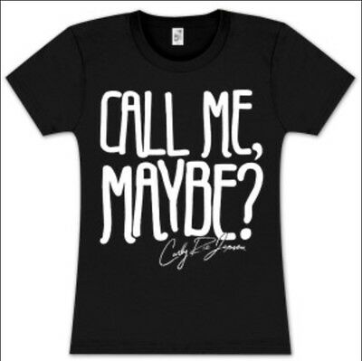 Call Me Maybe Womens Black Fitted T Shirt Med Hot Topic Carly Rae Jepsen New