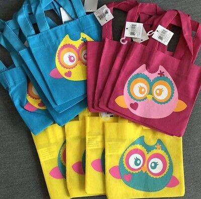 Owl Party Treat Gift Tote Bags, Small, Set Of 12, Great For Valentines - Owl Treat Bags