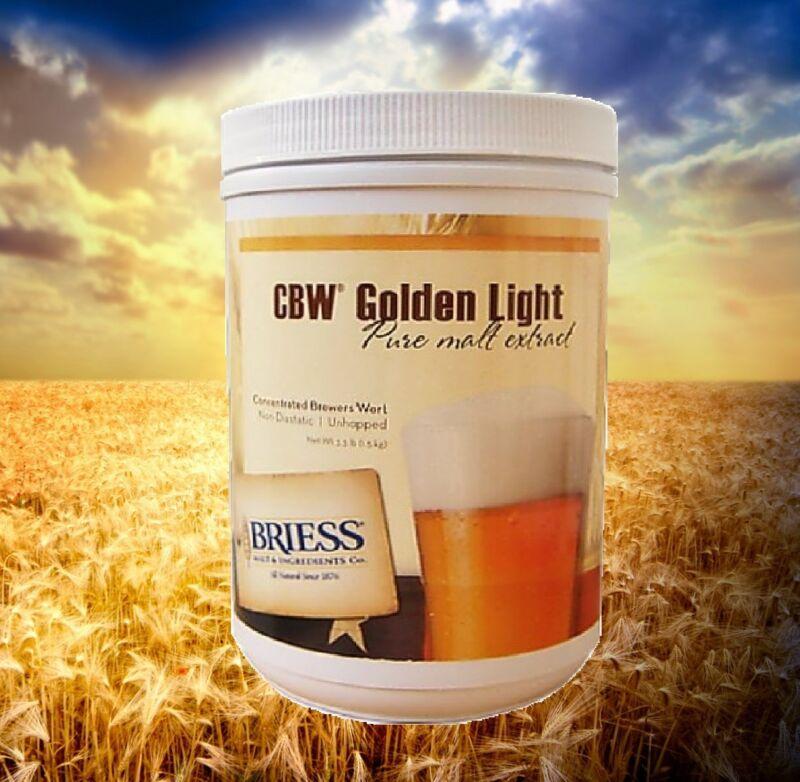 MALT EXTRACT BRIESS LME CBW GOLDEN LIGHT 3.3 LB CAN LIQUID MALT EXRACT BEER KIT
