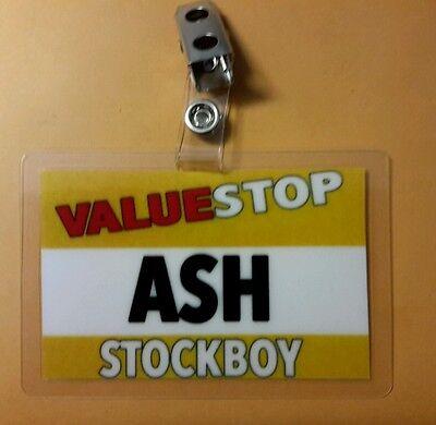 Ash vs Evil Dead ID Badge Valuestop Stockboy ASH cosplay costume Army - Evil Ash Costume