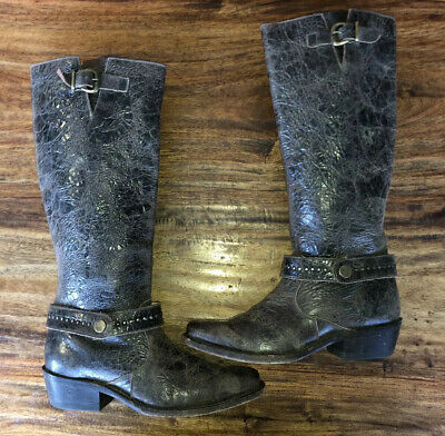Womens Sonora By Double H Western Cowboy Zipper Boots Size 6.5 B