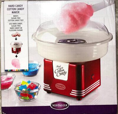 Nostalgia Electrics Cotton Candy Maker Machine Hard Sugar Red 450w