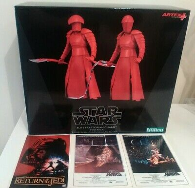 KOTOBUKIYA /ARTFX STAR WARS ELITE PRAETORIAN GUARD TWO PACK 1/10 +3 X POSTCARDS