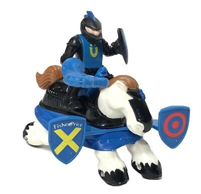 1994 Fisher Price Imaginext Great Adventures Castle Jousting Black Knight Horse