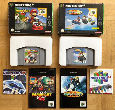 Mario Kart 64 OVP und Wave Race 64 OVP für die Nintendo 64 N64