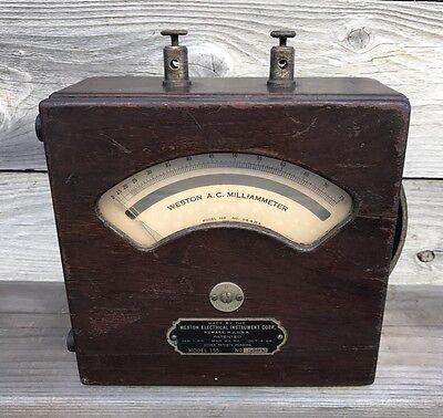 Rare Vintage Meter Weston Electrical Instruments Model 155