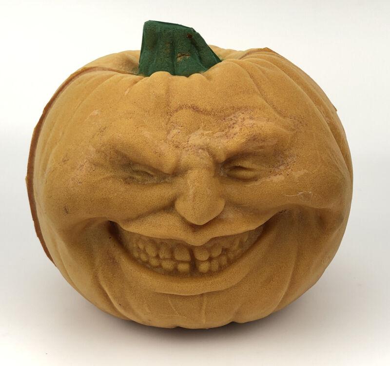 Vintage Todd Masters Foam Face Halloween Pumpkin Jack-O-Lantern 80