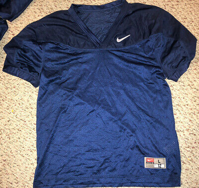 Bike 1422 Youth  Crop Football Practice Jersey Navy NEW