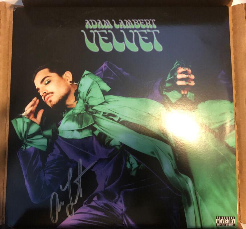 """Adam Lambert """"Velvet"""" Autographed Vinyl LP"""