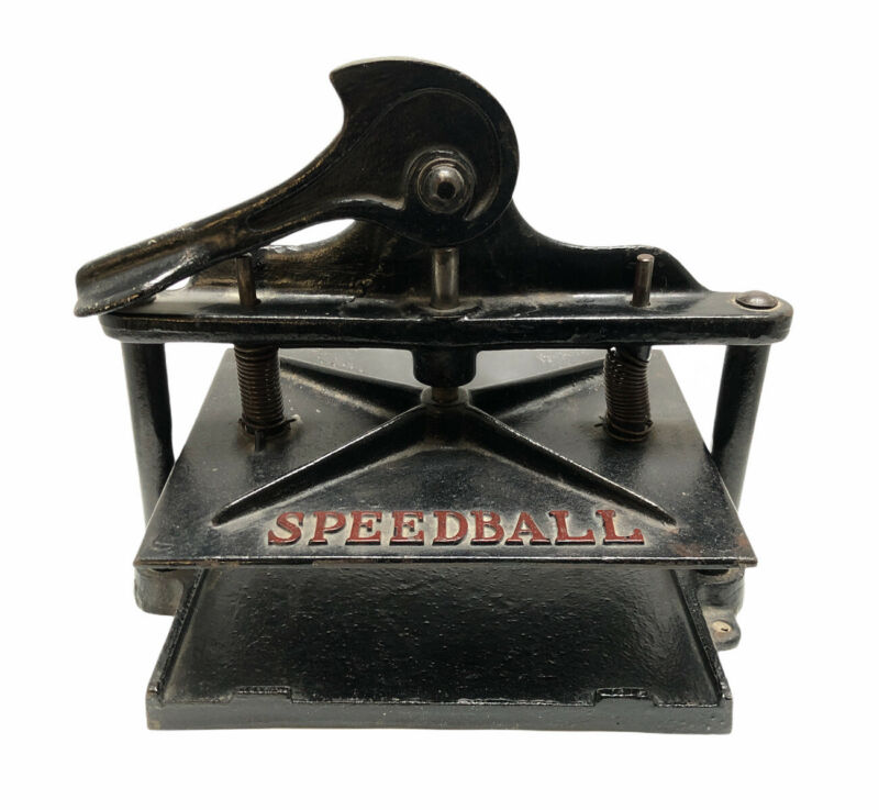 Antique Cast Iron SPEEDBALL Book Press Black