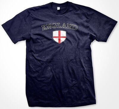 Country Flags T-shirt - England English Country Crest Flag Colors Ethnic Pride Men's T-shirt