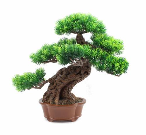 Japanese Bonsai Pine Tree Artificial Faux Potted Plants House Plants Decorates