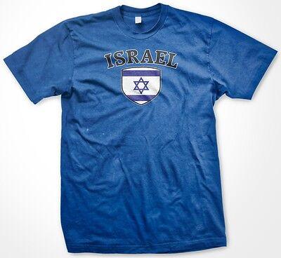 Israel Flag T-shirt - Israel Israeli Country Crest Flag Colors Nationality Ethnic Pride -Mens T-shirt
