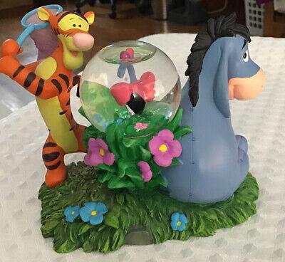 Disney Eeyore And Tigger Catching Butterflies Snow Globe Figure