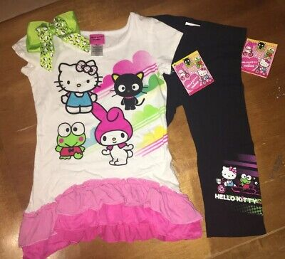 Used, Girls Sz Xs 4 5 Hello Kitty Top Dress Capri Legging Easter Hairbow Birthday Lot for sale  Shipping to Canada