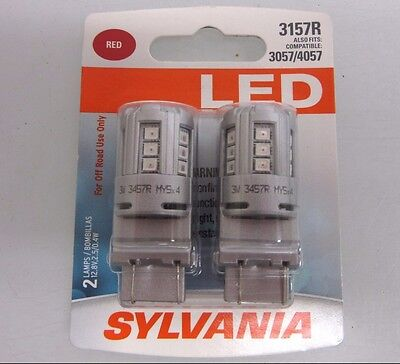 SYLVANIA ZEVO LED SUPER BRIGHT 3157R 3057 4057 LED 2 BRAND NEW Bulbs