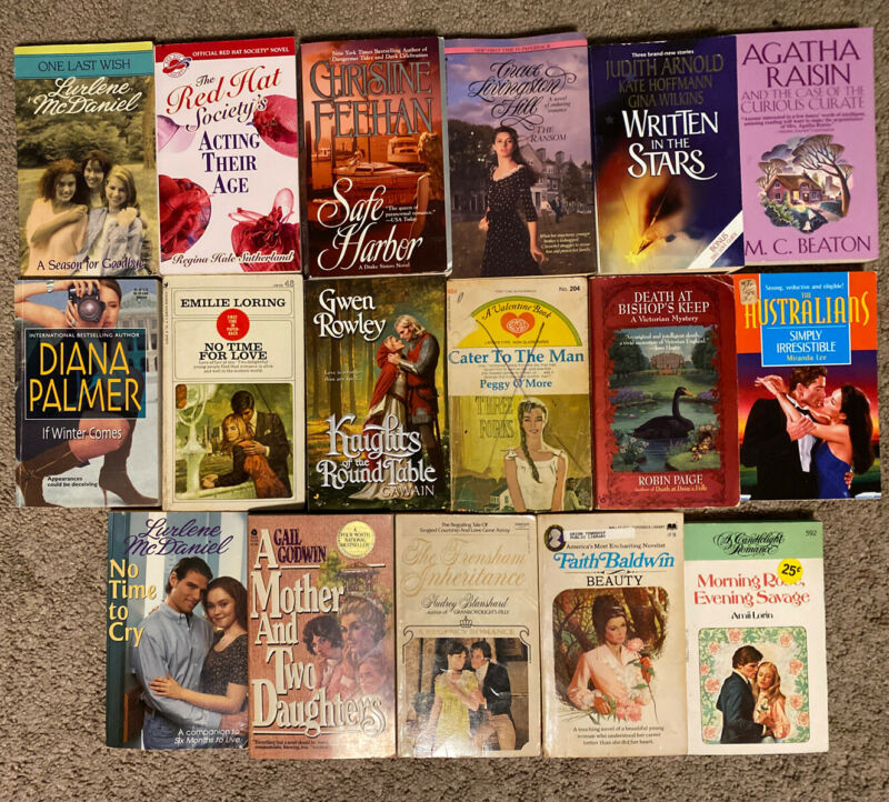 Misc Romance Novels - Lot of 17 Paperback Books