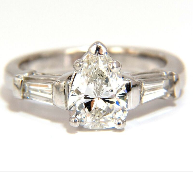 █$22000 Gia 1.74ct Natural Pear Brilliant Diamond Ring Classic Three Engagement
