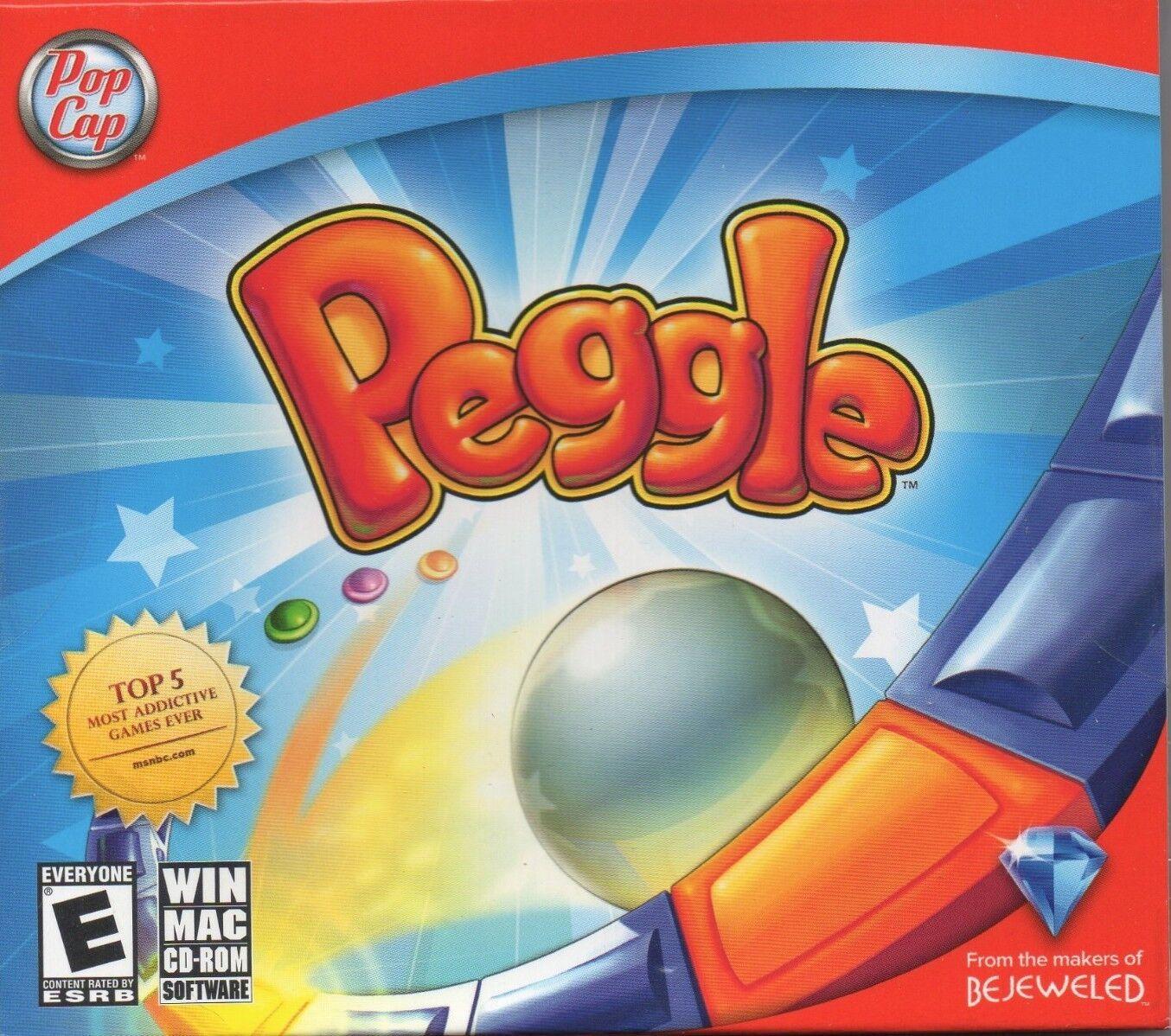 Computer Games - Peggle PC Games Windows 10 8 7 XP Computer pop cap popcap puzzle pachinko NEW
