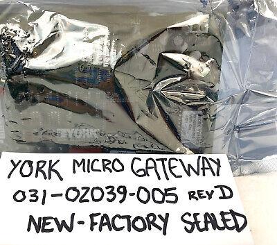 York Chiller Micro Gateway Circuit Power Board Model 031-02039-005 New - Rev D