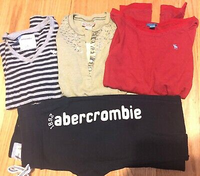 Girls ABERCROMBIE KIDS Lot SIZE Medium Sweatpants & Shirts - 4 Items