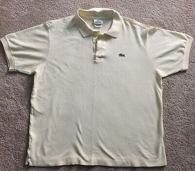 Lacoste Mens Short Sleeve Polo Shirt Yellow Size 6 Large