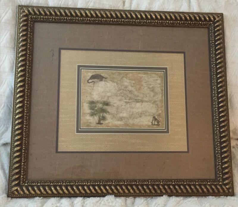Nice Framed West Indies Map - R. Wilkenson Map Large Framed Art