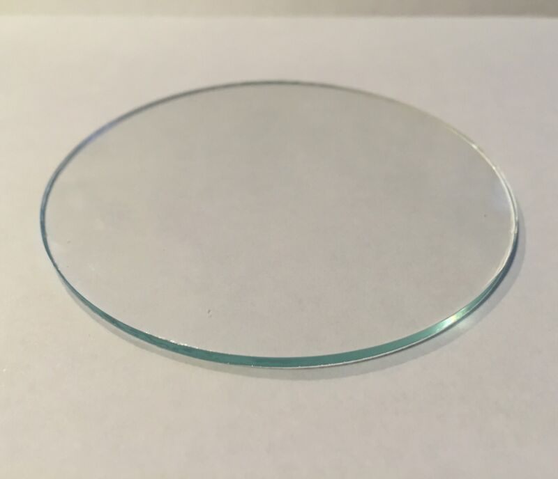 Clear Glass Disk (Glass Lens) cut to size between 3 inch through 5 inches