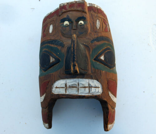 Tsimshian Carved and Painted Ceremonial Mask - Northwest Coast Native American