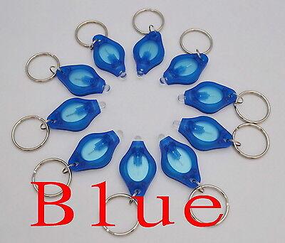 100pcs white light 22000mcd Blue LED Flashlight Keychain Torch Light Key Chains