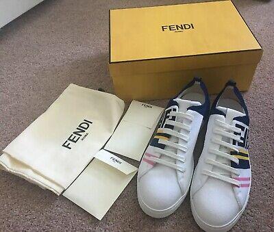 New Men's Fendi Multicolor Block Sneakers / UK9 / US10
