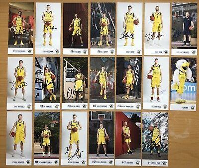 20 AK Alba Berlin Basketball Autogrammkarten 2017-18 original signiert