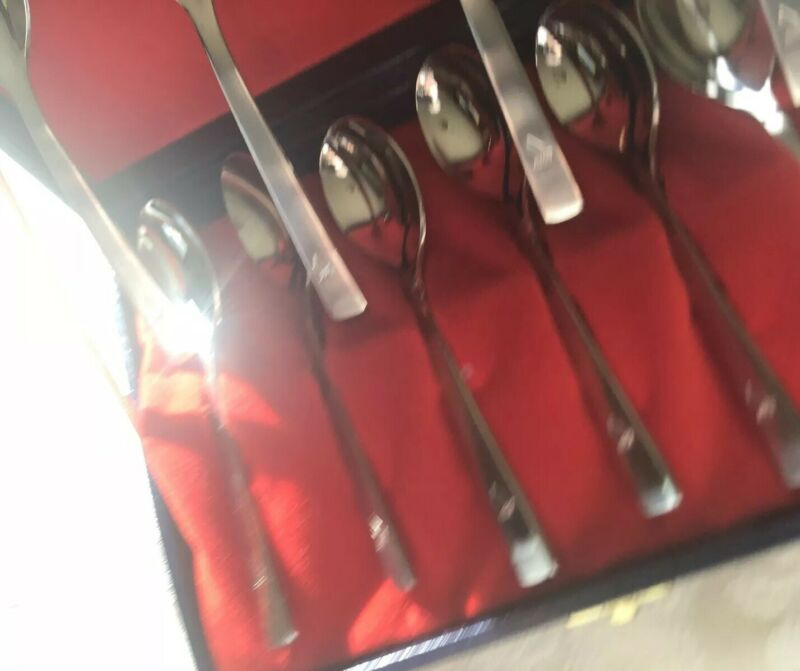 Singapore Airlines Boxed Set Of Ten (10) Spoons, Stainless