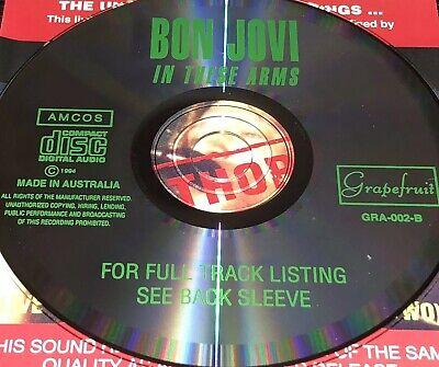 Bon Jovi In These Arms Live CD Super Rare Jon Bad Medicine Livin' On A