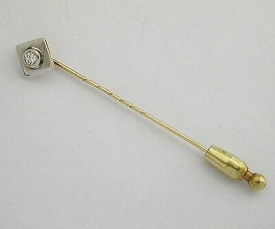 REVERSNADEL 585er GOLD BRILLANT 0,17ct BICOLOR Wert EUR 698,-