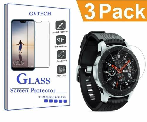 3-Pack Clear Tempered Glass Screen Protector for Samsung Galaxy Watch 46mm