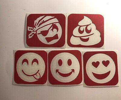 Emoji Pack Of Glitter Tattoo Stencils - 50 Stencil Pack](Tattoo Emoji)